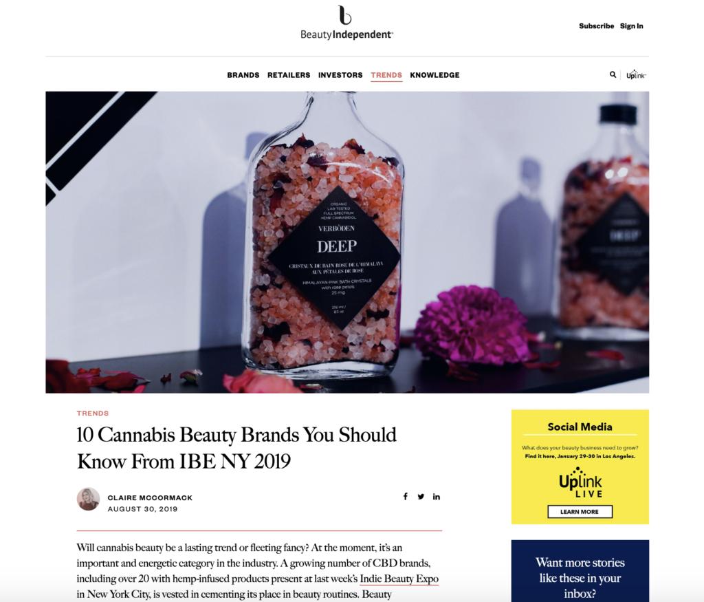 indie beauty expo new york best cbd brands